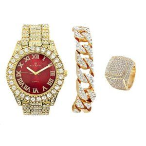 """""""Denver"""" Watch, Chain, and Ring Set"""